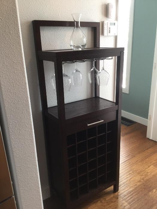 wine rack from Pottery Barn