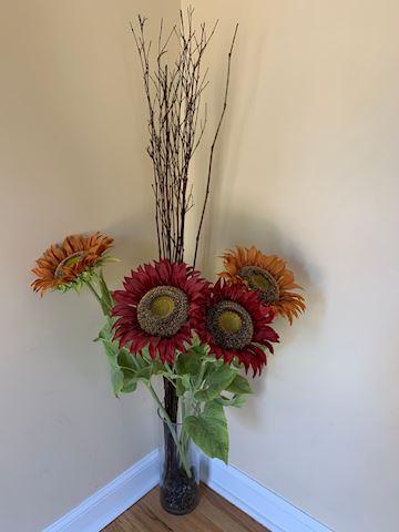 Faux Floral Floor Decor