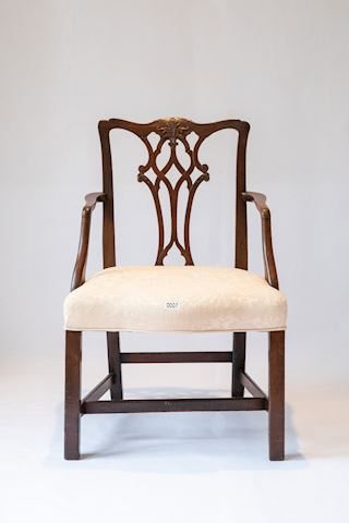 Lot 0007 Mahogany Chippendale Chair