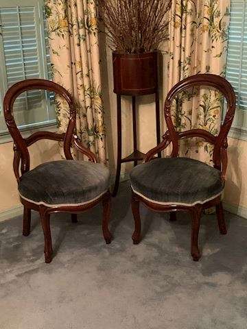 MB  104  Two Blue Chairs A & B