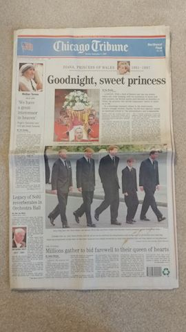 Princess Diana Coverage - Local Chicago Newspapers