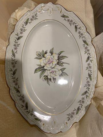 Porcelain Floral Platter