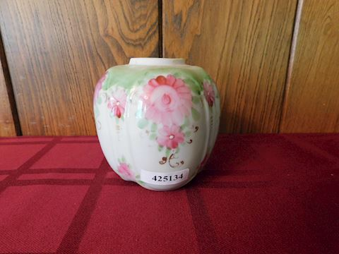 134 Hand-Painted Floral Vase