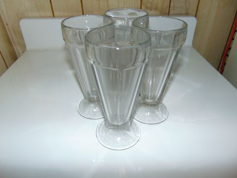 Vintage Ice Cream Soda Glasses