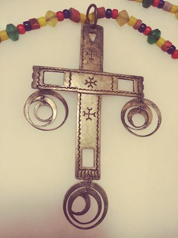Indian Trading Cross and Beads