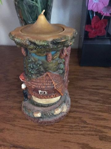 German decorative candle