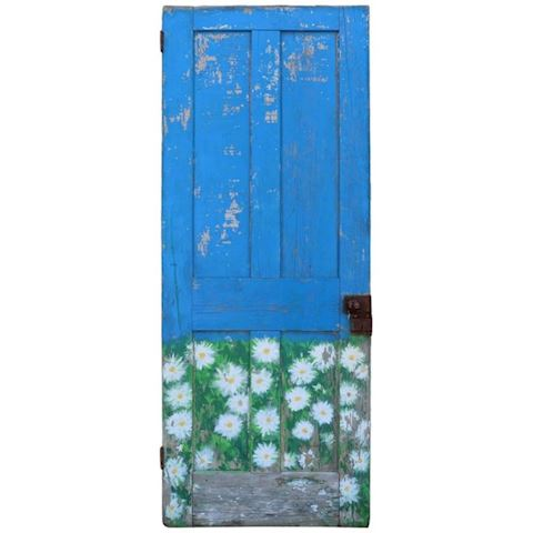 FUNKY SHABBY DOOR HAND PAINTED