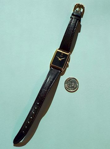 Ladies Citizen Wrist Watch w Black Face, Gold-Tone