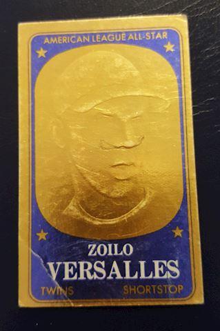 1965 Zoilo Versalles Embossed Baseball Card #33