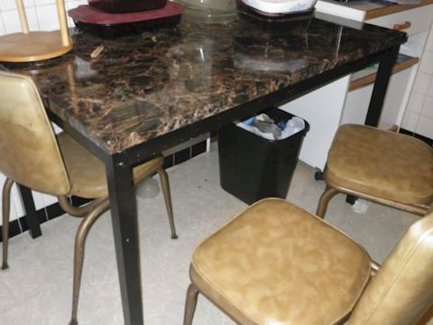 Faux Marble Kitchen Table