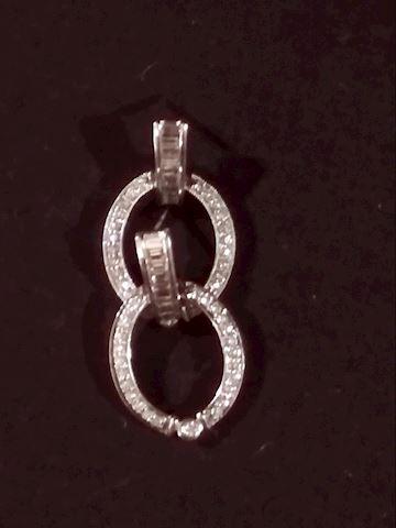 14k Gold Hoop Diamond Earrings