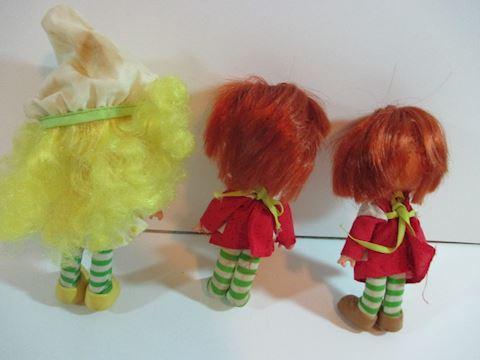 Lot of 3 Shortcake vintage dolls