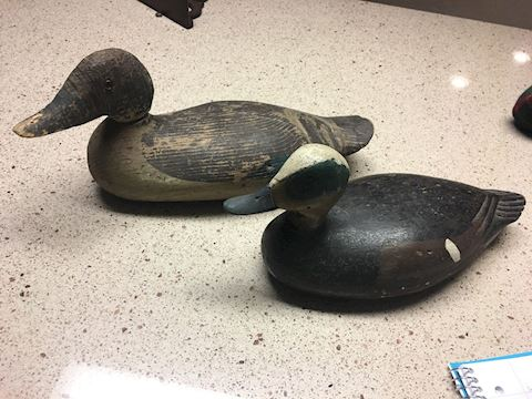 A. Kemble vintage duck decoys