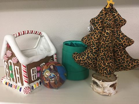 Lot of Christmas Decor - Ornament, Basket, Tree