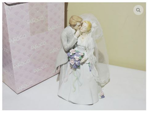 Bride & Groom Figurines Enesco Style Cake Topper