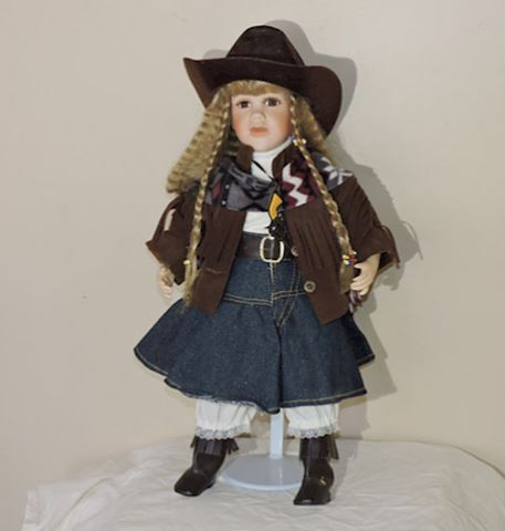 Porcelain Cowgirl VINTAGE w/ Period Dress Apparel