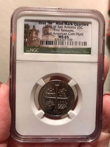 2019 W NGC MS65 FIRST RELEASES TEXAS SAN ANTONIO M