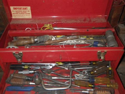 Red Tool Box and Contents