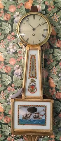 Handcrafted Vintage Aaron Willard Banjo Wall Clock