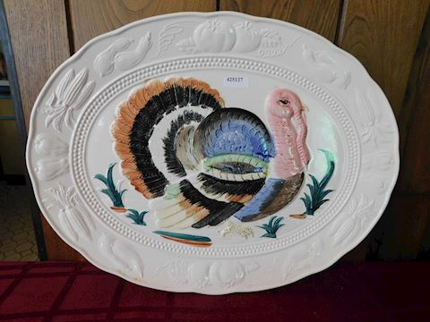 127 Antique Turkey Platter