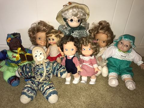 Vintage dolls, Campbell's Kids, Precious Moments