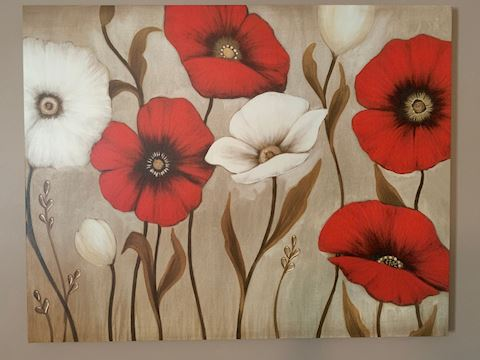Floral Wall Art (Canvas)
