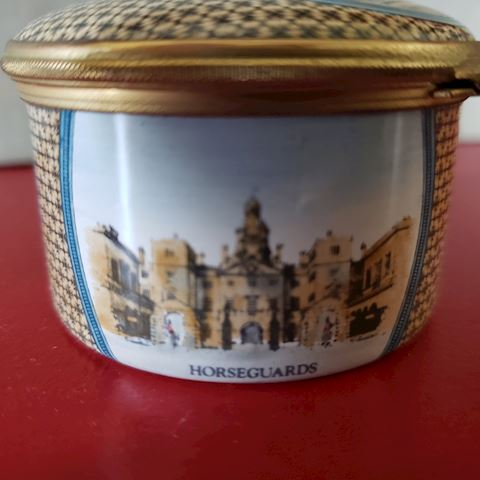 HALCYON DAYS JAS. MADISON CONSTITUTION TRINKET BOX