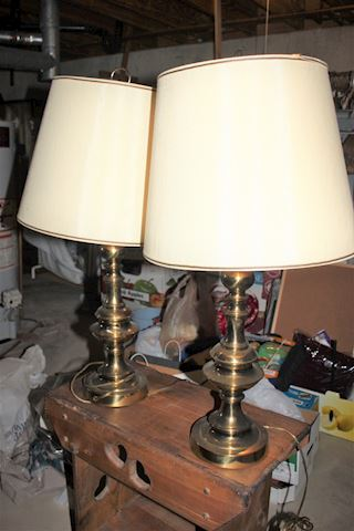 Brass Vintage Table Lamps