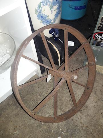 Heavy cast Iron wagon wheel