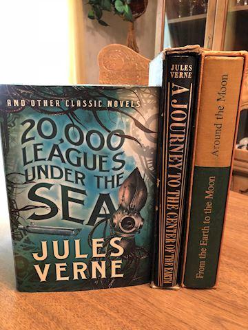 Vintage Jules Verne Book Collection - 3 Total