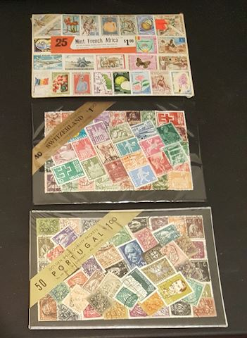 Vintage International Stamp Collection Sets