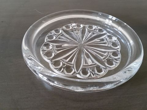 BACCARAT CRYSTAL WINE COASTER STAMPED 5-1/4""