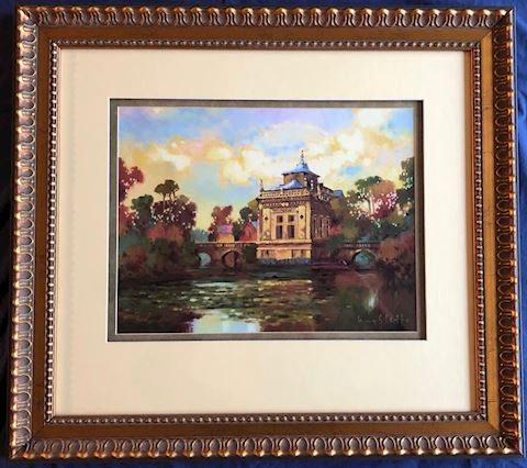 Framed Print.  French Temple.