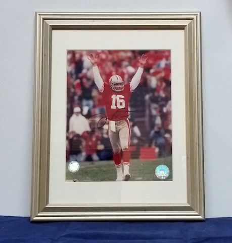 Framed Autographed Picture of Joe Montana #16 SF