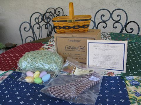 2003 JW Miniature Easter Basket