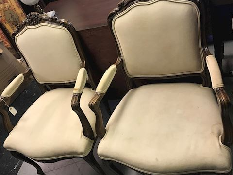 Pair of Vintage French Bergere Chairs