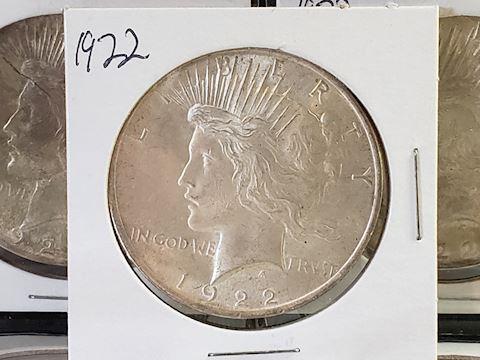 1-1922 Peace Dollar