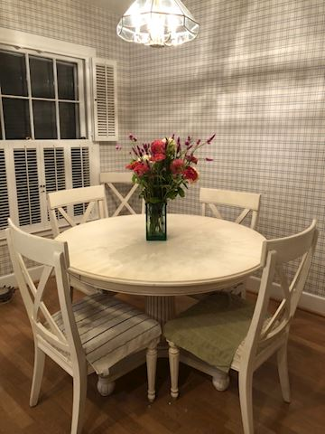 French Country Ethan Allen Kitchen Table, 6 Chairs