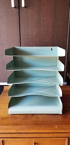 Mid century design metal organizer file