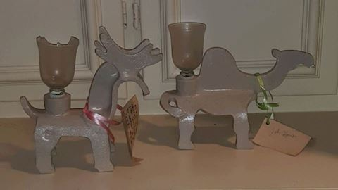 FR  310  Stoneware Candle holders by John Hanson