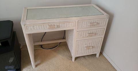 Cute Rattan Style Desk