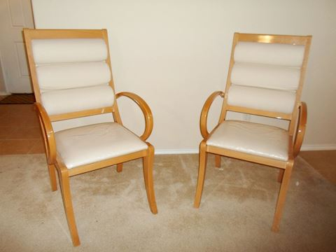 Pair Of Unbranded Contemporary Sitting Chairs