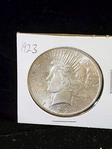 1-1923 Peace Dollar