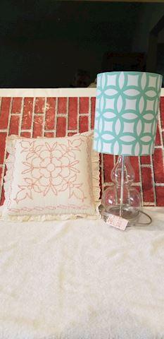 Nice decor lamp and pillow