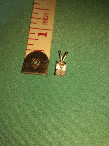 14k princess cut CZ pendant