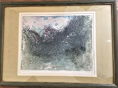 Witebsky Mid Century Art Print Burning Bush
