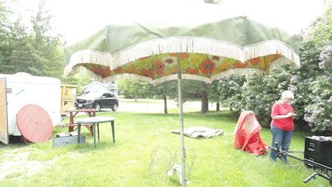 Retro patio umbrella with stand #17