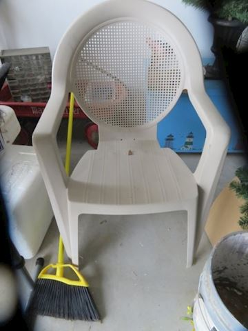 Off White Plastic Chair