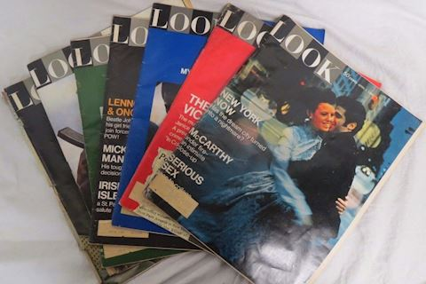 Lot of 7 Look Magazines 1969 Issues