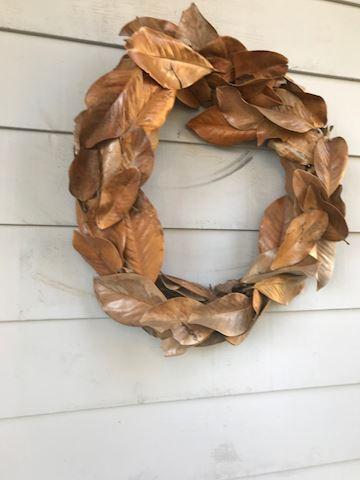 Pair of Madrone leaf wreaths